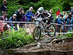 12.06.2011, Bikepark, Leogang, AUT, UCI MOUNTAINBIKE WORLDCUP, LEOGANG, im Bild Downhill Worldcup CUNNINGHAM Ruaridh, GBR // during the UCI MOUNTAINBIKE DOWNHILL WORLDCUP, LEOGANG, AUSTRIA, 2011-06-12, EXPA Pictures © 2011, PhotoCredit: EXPA/ J. Feichter