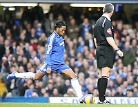 Drogba scores the first goal for Chelsea