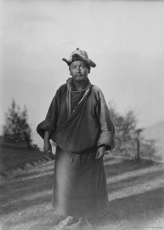 Tibetan Lama Priest, Observatory Hill, Darjeeling, India, 1929