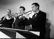 16/05/1956<br /> 05/16/1956<br /> 16 May 1956<br /> The new Sham Wilkinson Band at 23 Parliament Street, Dublin. Brass section, trumpets and trombone.