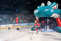 KELOWNA, CANADA - SEPTEMBER 21:  Tyson Baillie #24 of the Kelowna Rockets enters the ice during the regular season home opener against the Kamloops Blazers at the Kelowna Rockets on September 21, 2013 at Prospera Place in Kelowna, British Columbia, Canada (Photo by Marissa Baecker/Shoot the Breeze) *** Local Caption ***