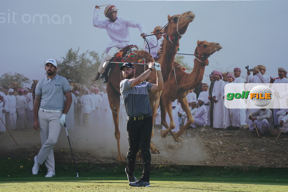Jordan Smith (ENG) on the 8th during Round 2 of the Oman Open 2020 at the Al Mouj Golf Club, Muscat, Oman . 28/02/2020<br /> Picture: Golffile | Thos Caffrey<br /> <br /> <br /> All photo usage must carry mandatory copyright credit (© Golffile | Thos Caffrey)