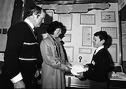 08/01/1988.01/08/1988.8th January 1988 .The Aer Lingus Young Scientist of the Year Award at the RDS, Dublin..Student (unkown) and parents with his exhibition 'The Causes and Preventions of Nappy Rash'.