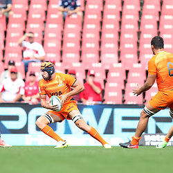 Guido Petti of the Jaguares during the Super Rugby match between the Emirates Lions and the Jaguares at the Emirates Airlines Park, South Africa. 24 February 2018 (Photo by Steve Haag Jaguares)