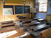 School classroom from 1905, Zuiderzee museum, Enkhuizen, Netherlands