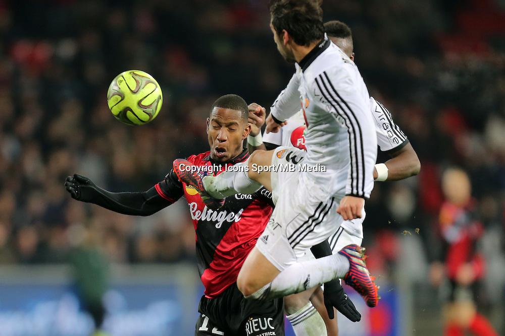 Claudio BEAUVUE / PEDRINHO  - 24.01.2015 - Guingamp / Lorient - 22eme journee de Ligue1<br />Photo : Vincent Michel / Icon Sport *** Local Caption ***