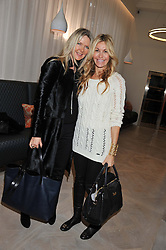Left to right, AMANDA WAKELEY and MELISSA ODABASH at a ladies breakfast hosed by At Last! held at Grace, 11c West Halkin Street, London on 29th January 2013.