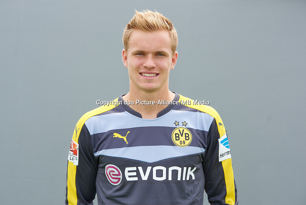 Photocall German Soccer Bundesliga 2015/16 - Borussia Dortmund on 15 July 2015 in Dortmund, Germany: goalkeeper Hendrik Bonmann