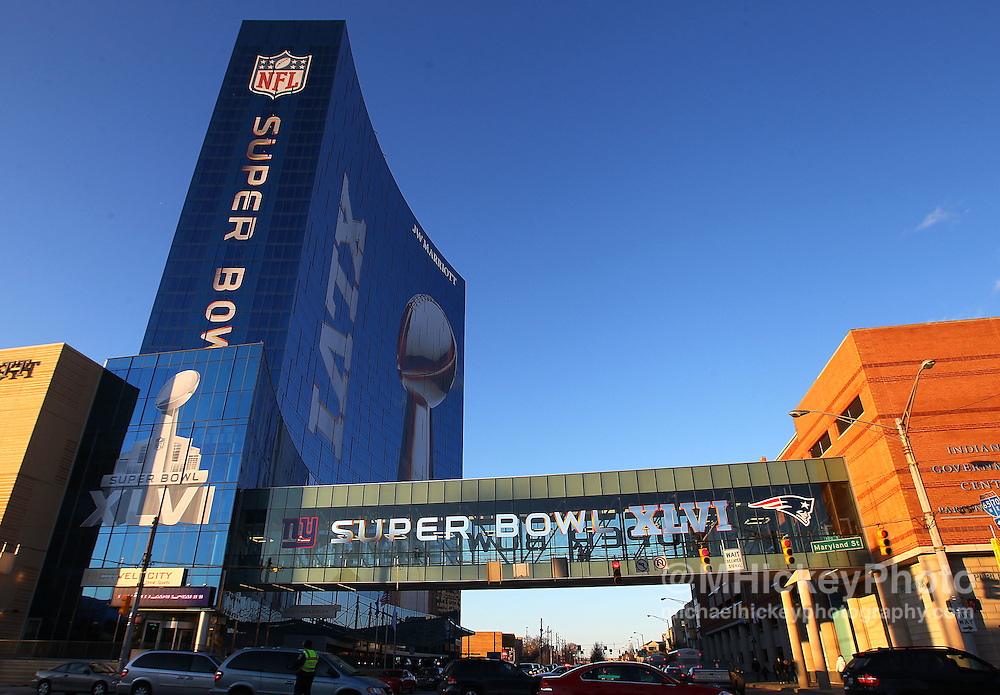 Jan. 28, 2012; Indianapolis, IN, USA; The Super Bowl Motorola Media Center at the JW Marriott in downtown Indianapolis. Mandatory credit: Michael Hickey-US PRESSWIRE