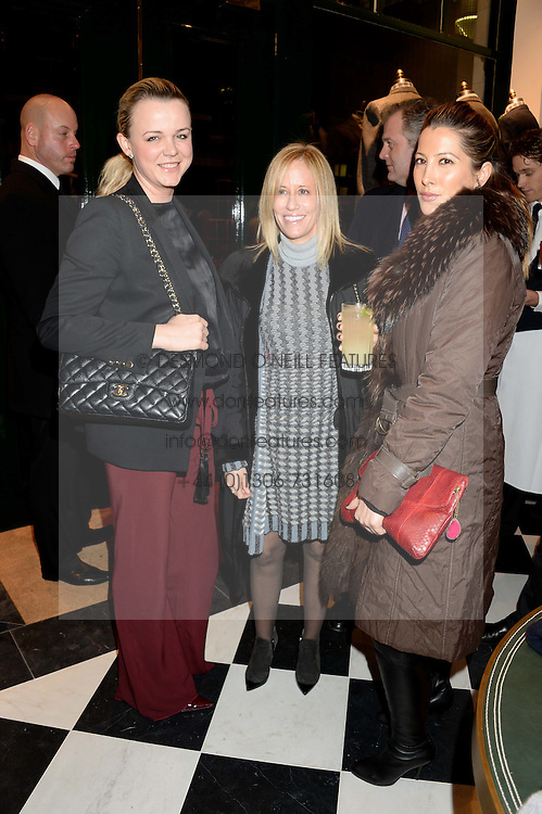 Left to right, SOPHIE MICHELL, KIA SAMUEL-JOHNSON and PRINCESS TAMARA CZARTORYSKI-BORBON at the Kent and Curwen London Flagship Launch, Saville Row, London on 6th November 2013.