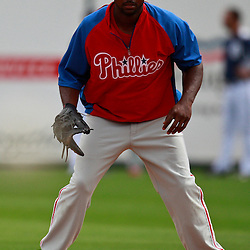 March 9, 2011; Lakeland, FL, USA; Philadelphia Phillies first baseman Ryan Howard (6) before a spring training exhibition game against the Detroit Tigers at Joker Marchant Stadium.   Mandatory Credit: Derick E. Hingle