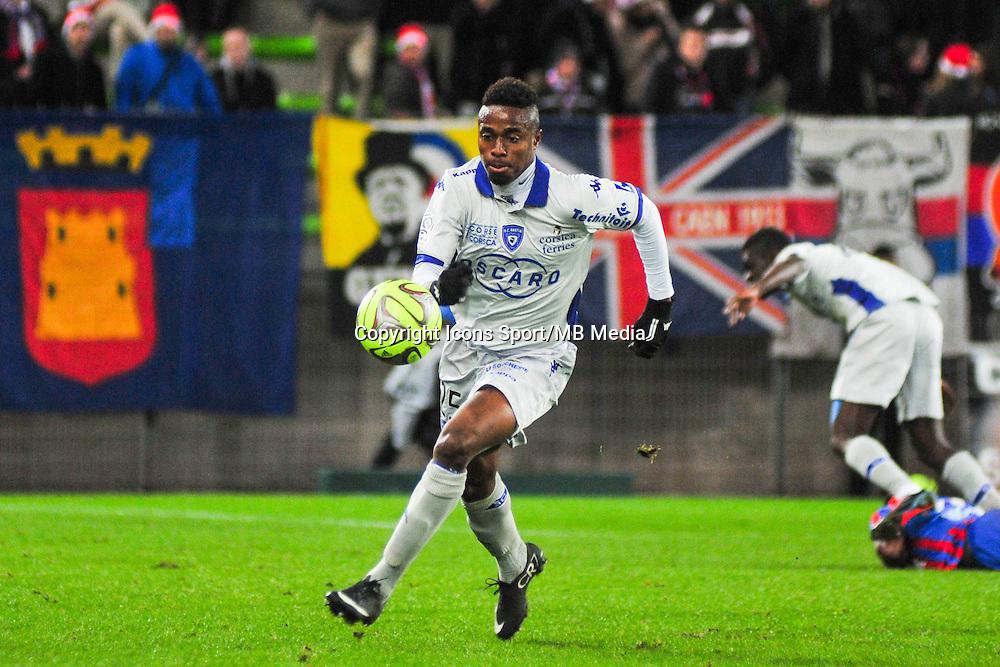 François Kamano - 20.12.2014 - Caen / Bastia - 19eme journee de Ligue 1 <br /> Photo : Philippe Le Brech / Icon Sport