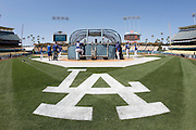 LOS ANGELES, CA - MAY 28:  Players take batting practice during the Los Angeles Dodgers game against the Milwaukee Brewers on Monday, May 28, 2012 at Dodger Stadium in Los Angeles, California. The Brewers won the game 3-2. (Photo by Paul Spinelli/MLB Photos via Getty Images)