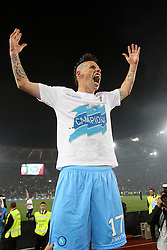 20.05.2012, Stadio Olympico, Rom, ITA, TIM Cup, Juventus Turin vs SSC Neapel, Finale, im Bild Esultanza di Marek Hamsik Napoli, Celebration // during the final football match of Italian TIM Cup between Juventus Turin and SSC Neapel at Stadio Olympico, Rome, Italy on 2012/05/20. EXPA Pictures © 2012, PhotoCredit: EXPA/ Insidefoto/ Paolo Nucci..***** ATTENTION - for AUT, SLO, CRO, SRB, SUI and SWE only *****