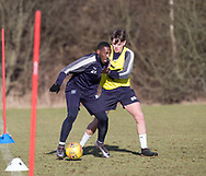Roarie Deacon and Lewis Spence of Dundee - Dundee FC training , Picture by David Young -