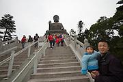 Lantau island. Ngong Ping Plateau. Tian Tan Buddha.