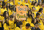 Feb 19, 2011; Long Beach, CA, USA; Long Beach State 49ers fans cheer during the game against the Montana Grizzlies at the Walter Pyramid. Long Beach State defeated Montana 74-56.