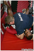 Jimi 'Poster-Boy' Manuwa.Keddles Gym Session 3 of day. Sparing.Weds 21-7-2010..
