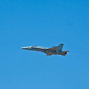 F-18 Hornet plane at Camarillo Airshow 2010. California, USA.