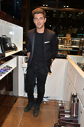 ALEX MYTTON at a party in celebration of LCM 2015 and the launch of the Tateossian's first ever men's-only boutique at 55 Sloane Square, London on 10th January 2015.