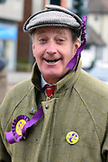 © Licensed to London News Pictures. 12/02/2013. Eastleigh, UK NEIL HAMILTON former Conservative MP for the Tatton campaigns for UKIP. Diane James, chosen yesterday to fight the Eastleigh by election for UKIP, campaigns with Nigel Farage, leader of the party, in Easleigh's Market Street today 12th February 2013. Photo credit : Stephen Simpson/LNP