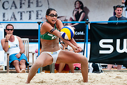Maria Clara Salgado Rufino of Brasil at A1 Beach Volleyball Grand Slam tournament of Swatch FIVB World Tour 2011, on August 5, 2011 in Klagenfurt, Austria. (Photo by Matic Klansek Velej / Sportida)