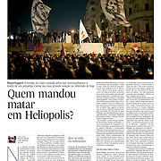 "Tearsheet of ""Egypt: Murder in Heliopolis"" published in Expresso"