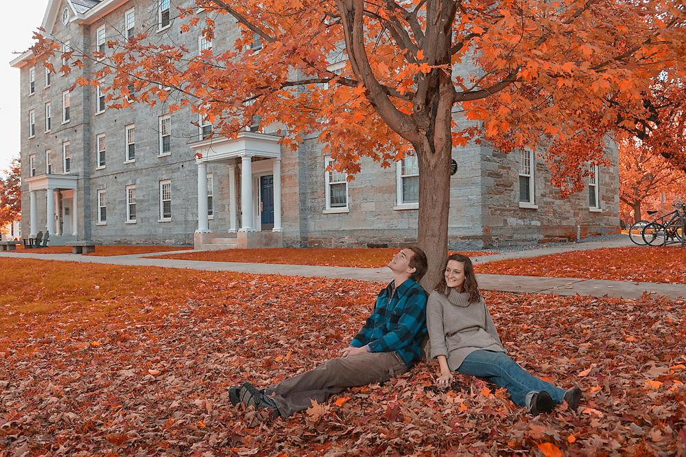 Students at Middlebury College, Middlebury,Vermont USA.Model release 0300,0301