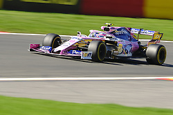 August 30, 2019, Spa Francorchamps, Belgium: Racing Point UK Limited Driver LANCE STROLL (CAN) in action during the second free practice session of the Formula one Belgian Grand Prix at the SPA Francorchamps circuit - Belgium (Credit Image: © Pierre Stevenin/ZUMA Wire)