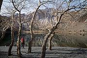 Skipping stones.<br /> Convict Lake, California