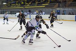 During ice hockey match between HK Playboy Slavia and HDD Telemach Olimpija in semi-final of Slovenian Cup, on November 10, 2015  in Ledena Dvorana Zalog, Ljubljana, Slovenia. Photo by Urban Urbanc / Sportida
