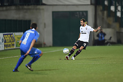 November 3, 2018 - Vercelli, Italy - Italian defender Luca Milesi from Pro Vercelli team playing during Saturday evening's match against Novara Calcio valid for the 10th day of the Italian Lega Pro championship  (Credit Image: © Andrea Diodato/NurPhoto via ZUMA Press)