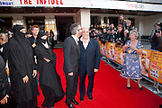 David Baddiel; Omid Djalilil BEING PHOTOGRAPHED B Y DAVID BADDIEL'S MOTHER, The Infidel premiere. Apollo theatre, Hammersmith. London. 8 April 2010