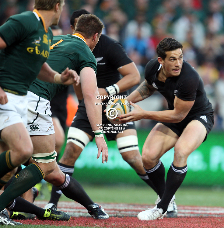 PORT ELIZABETH, SOUTH AFRICA - AUGUST 20, Sonny Bill Williams during the Castle Lager Tri Nations match between South Africa and New Zealand from Nelson Mandela Bay Stadium on August 20, 2011 in Port Elizabeth, South Africa<br /> Photo by Steve Haag / Gallo Images