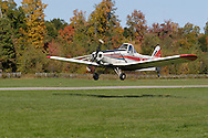 Middletown, N.Y. - A plane towing a glider takes off from Randall Airport on Oct. 8, 2006. ©Tom Bushey