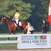 Clare Green and Ramazotti at the 2010 North American Young Rider Championships in Lexington, Kentucky.