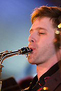 Ivo Neame on Saxophone with the Tom Richards Orchestra at the Friday Tonic concert in 2008. Frontroom, Queen Elizabeth Hall, Southbank Centre, London