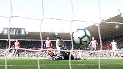 File photo dated 27-04-2019 of Bournemouth's Dan Gosling (centre) scores his side's first goal of the game against Southampton during the Premier League match at St Mary's Stadium, Southampton.