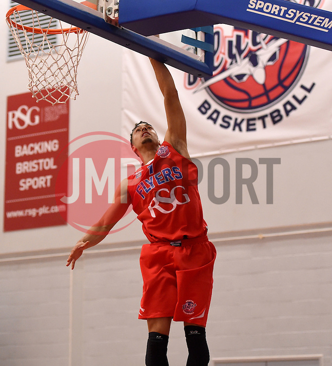 Roy Owen of Bristol Flyers scores a basket  - Photo mandatory by-line: Joe Meredith/JMP - Mobile: 07966 386802 - 10/10/2015 - BASKETBALL - SGS Wise Arena - Bristol, England - Bristol Flyers v Newcastle Eagles - British Basketball League