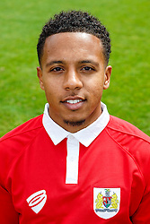 Korey Smith poses for a head shot - Photo mandatory by-line: Rogan Thomson/JMP - 07966 386802 - 04/08/2014 - SPORT - FOOTBALL - BCFC Training Ground, Failand - Bristol City, 2014/15 Team Photos.
