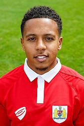 Korey Smith poses for a head shot - Photo mandatory by-line: Rogan Thomson/JMP - 07966 386802 - 04/08/2014 - SPORT - FOOTBALL - BCFC Training Ground, Failand - Bristol City, 2014/15 Team Photos.
