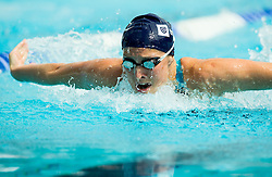 Anja Klinar of PK Gorenjska Banka Radovljica competes in 100m Butterfly during Slovenian Swimming National Championship 2014, on August 3, 2014 in Ravne na Koroskem, Slovenia. Photo by Vid Ponikvar / Sportida.com