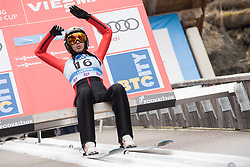 February 8, 2019 - Ljubno, Savinjska, Slovenia - Daniela Haralambie of Romania on first competition day of the FIS Ski Jumping World Cup Ladies Ljubno on February 8, 2019 in Ljubno, Slovenia. (Credit Image: © Rok Rakun/Pacific Press via ZUMA Wire)