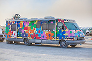 Colorful paint on RV called The Pinnacle of Love My Burning Man 2019 Photos:<br />