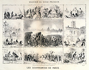 Franco-Prussian War 1870-1871: Siege of Paris 19 Sept 1870-28 Jan 1871, conditions in Paris during Prussian bombardment. 19th century lithograph.