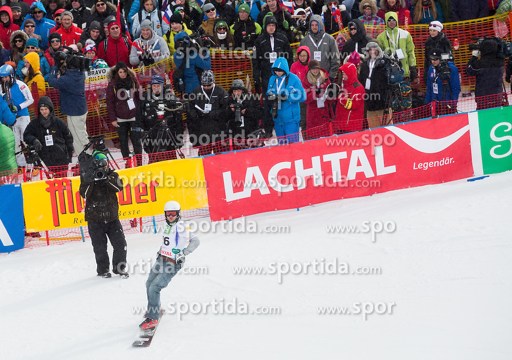 Rok Flander of SLovenia competed during 1/8 Finals of the Men's Parallel Giant Slalom at FIS World Championships of Snowboard and Freestyle 2015, on January 23, 2015 at the WM Piste in Lachtal, Austria. Photo by Vid Ponikvar / Sportida