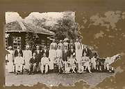 Galaha Estate Bungalow. The persons in the photograph are the manager and staff. My grand father is also in the photograph. Sorry for the bad state of the photo. The photo would have been taken around the 1920s.