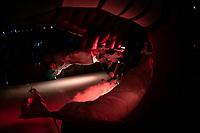 KELOWNA, CANADA - JANUARY 25: Matt Barberis #22 of the Kelowna Rockets enters the ice against the Victoria Royals on January 25, 2019 at Prospera Place in Kelowna, British Columbia, Canada.  (Photo by Marissa Baecker/Shoot the Breeze)