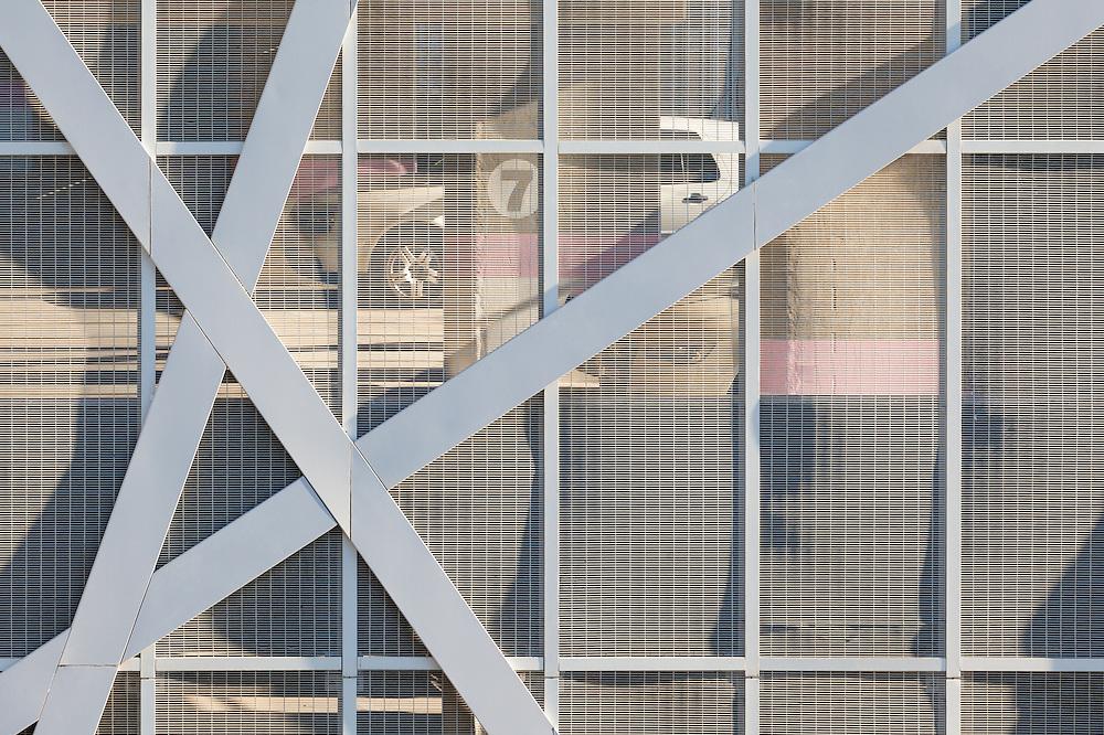 Parking garage facade detail of the Bowman Gilfillan building, Bree Street, Cape Town.