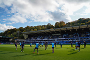 Wycombe Wanderers warm up during the EFL Sky Bet League 1 match between Wycombe Wanderers and Sunderland at Adams Park, High Wycombe, England on 19 October 2019.
